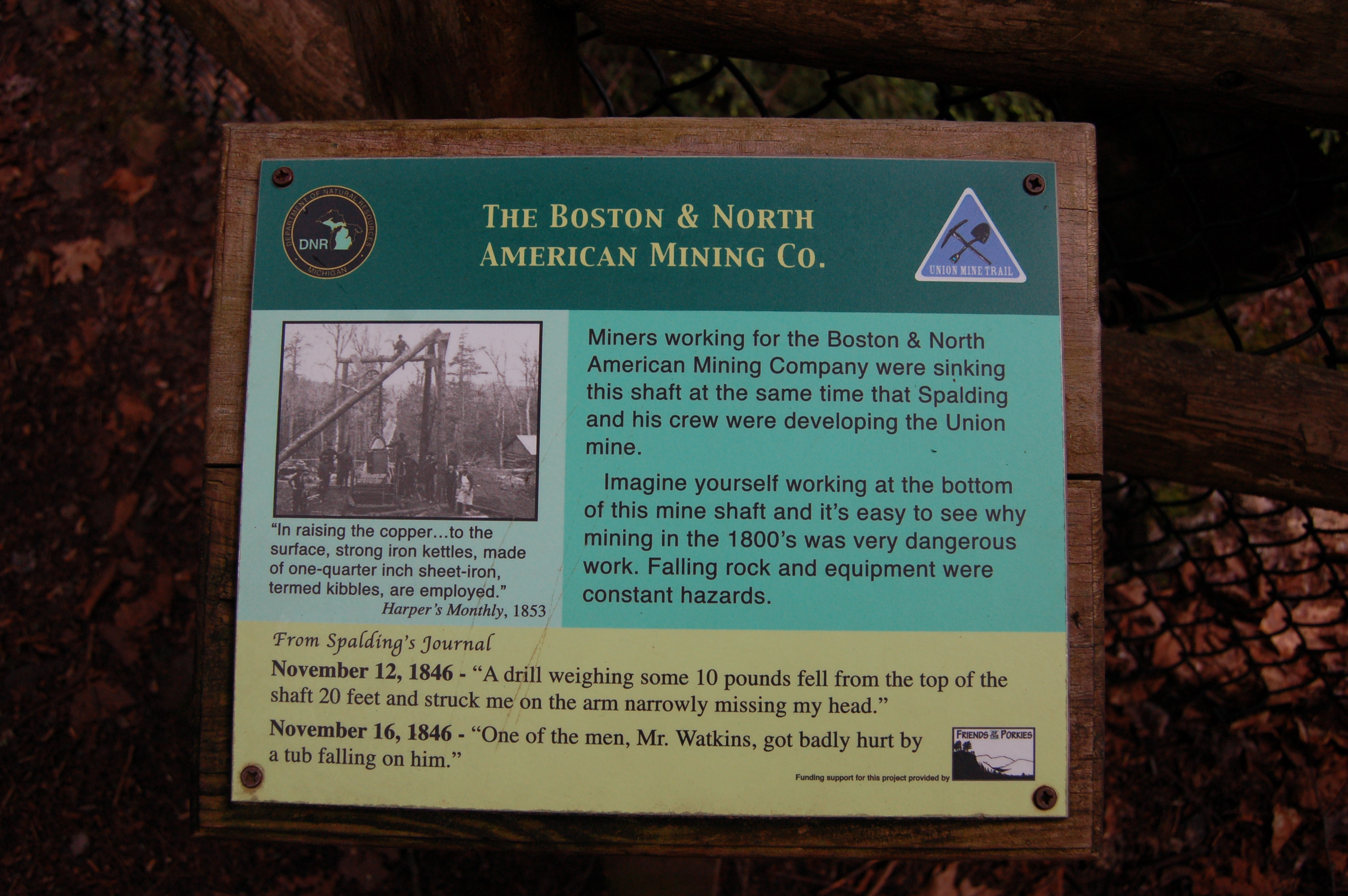 Union Mine Trail Boston Mining Company