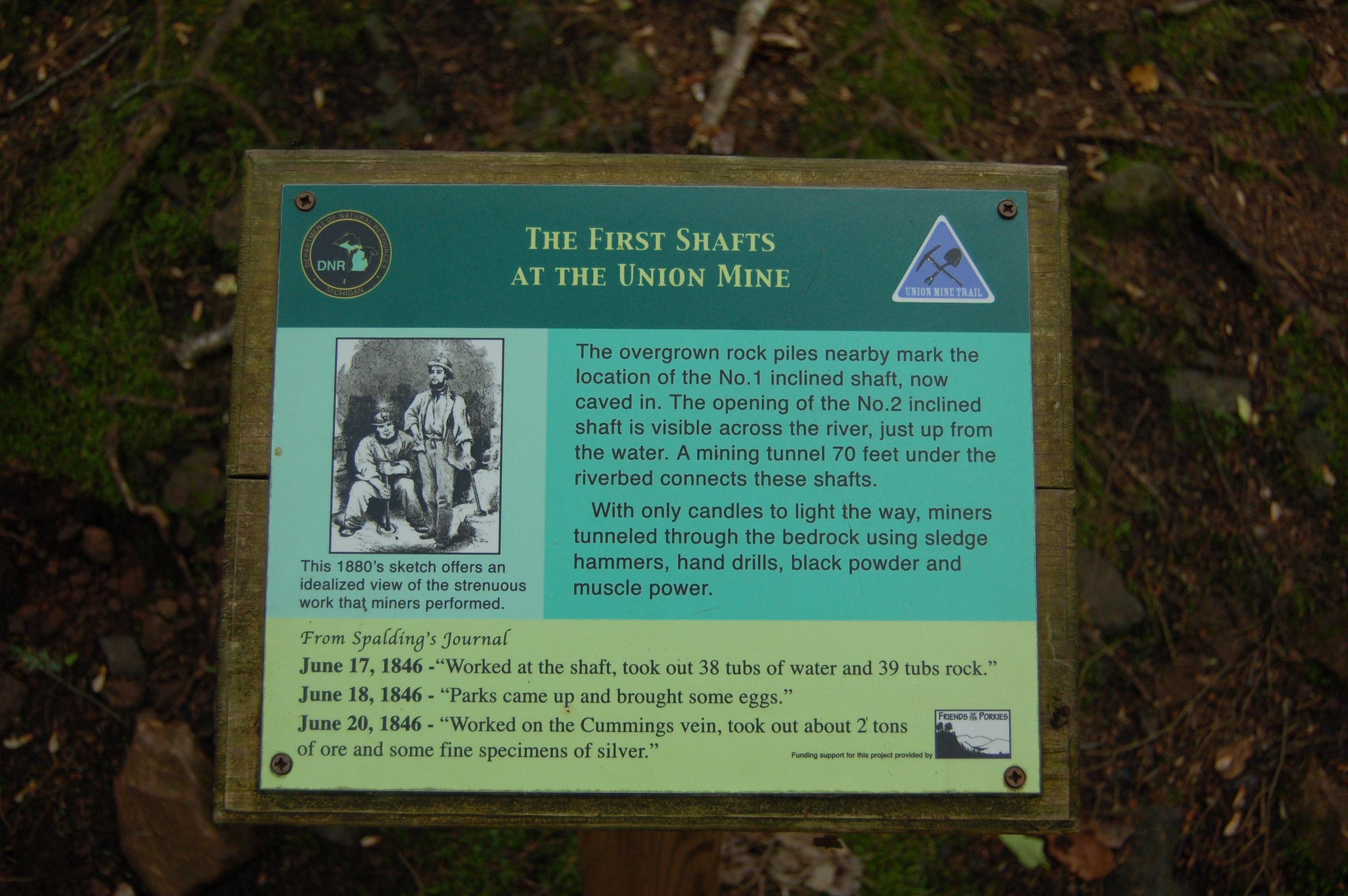 Union Mine Trail First Mine Shaft Porcupine Mountains