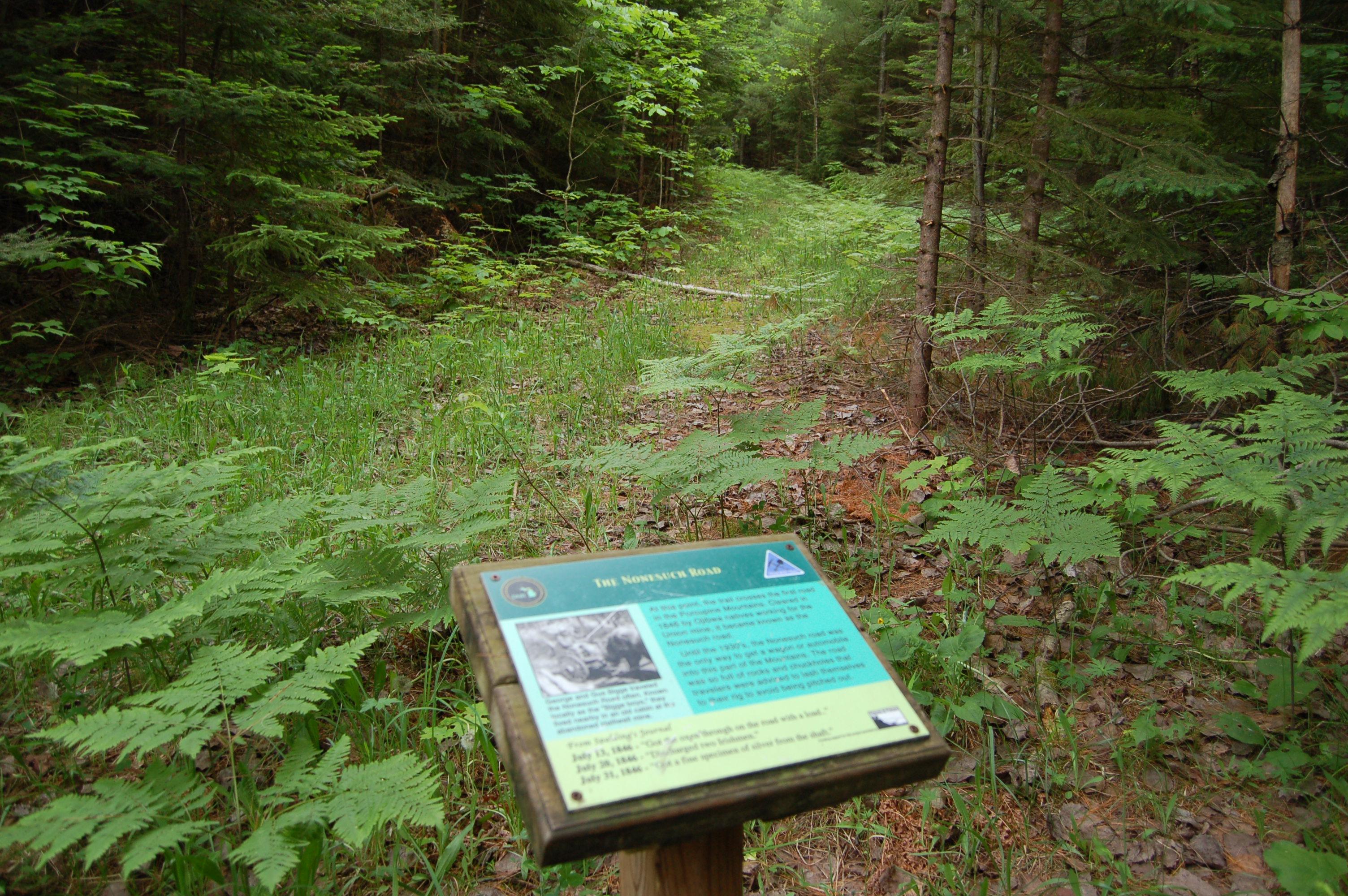 Union Mine Trail Nonesuch Road Porkies MI