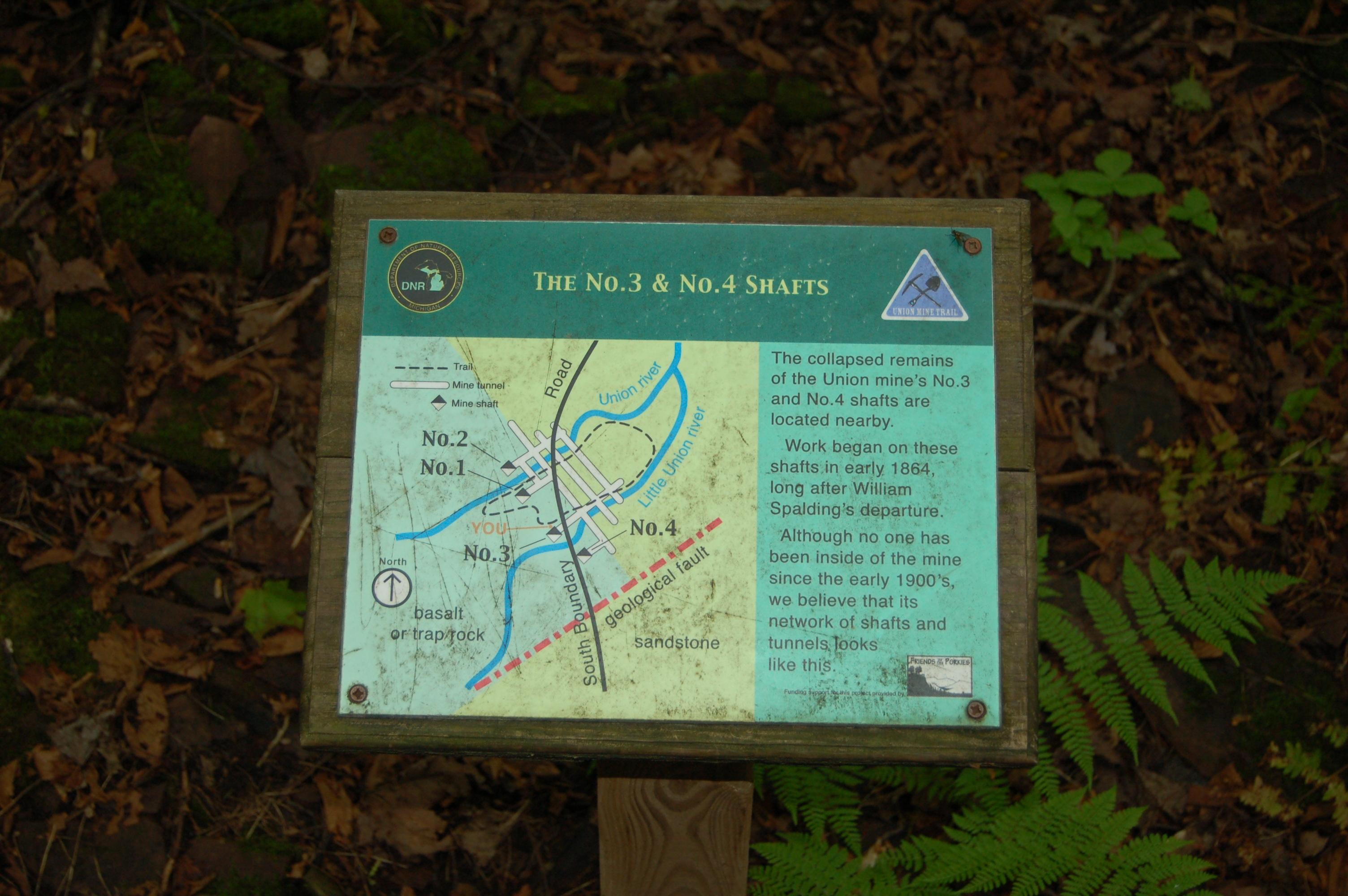 Union Mine Trail Shaft 3 and 4 Michigan