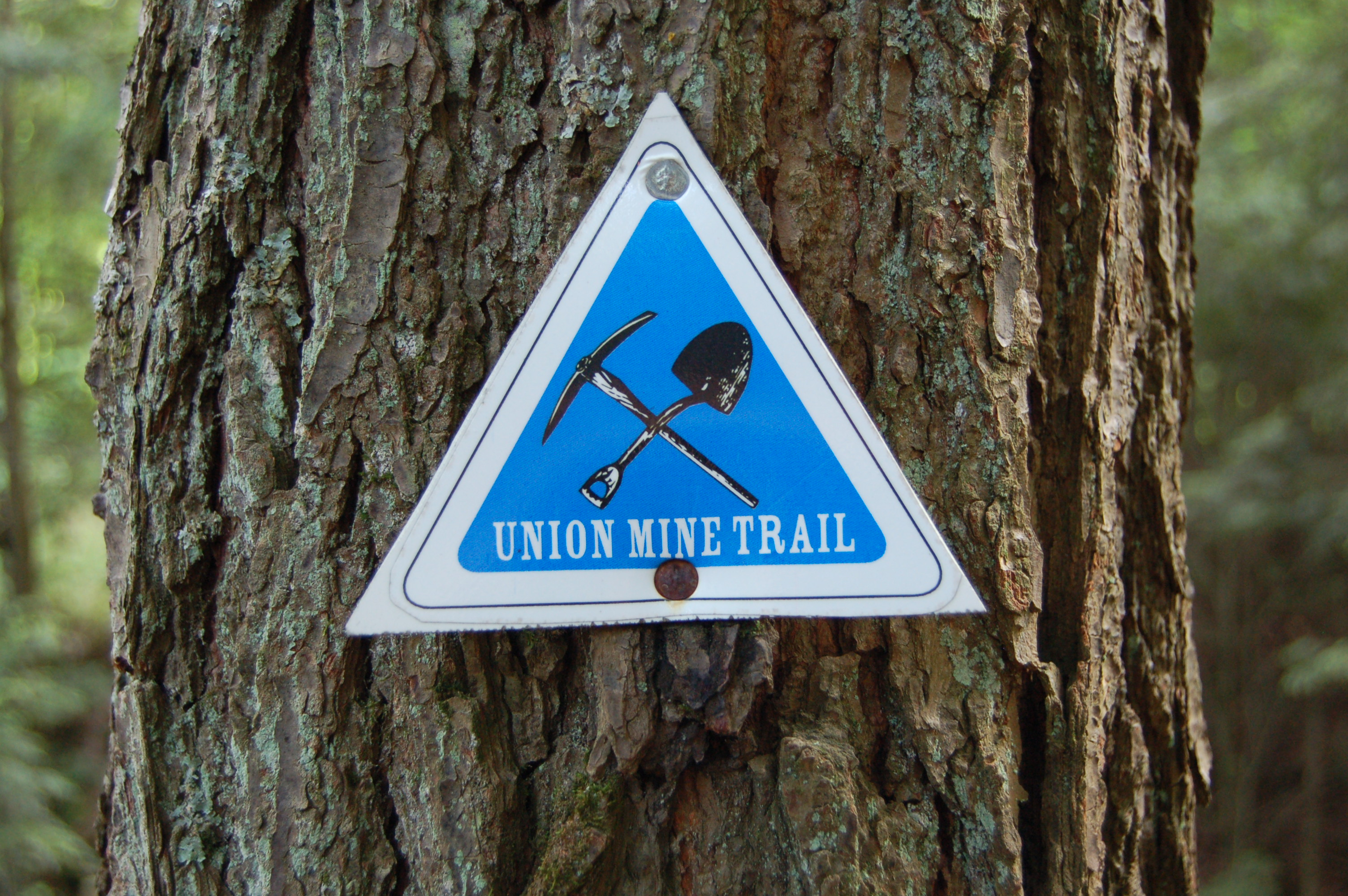 Union Mine Trail Sign Porcupine Mountains