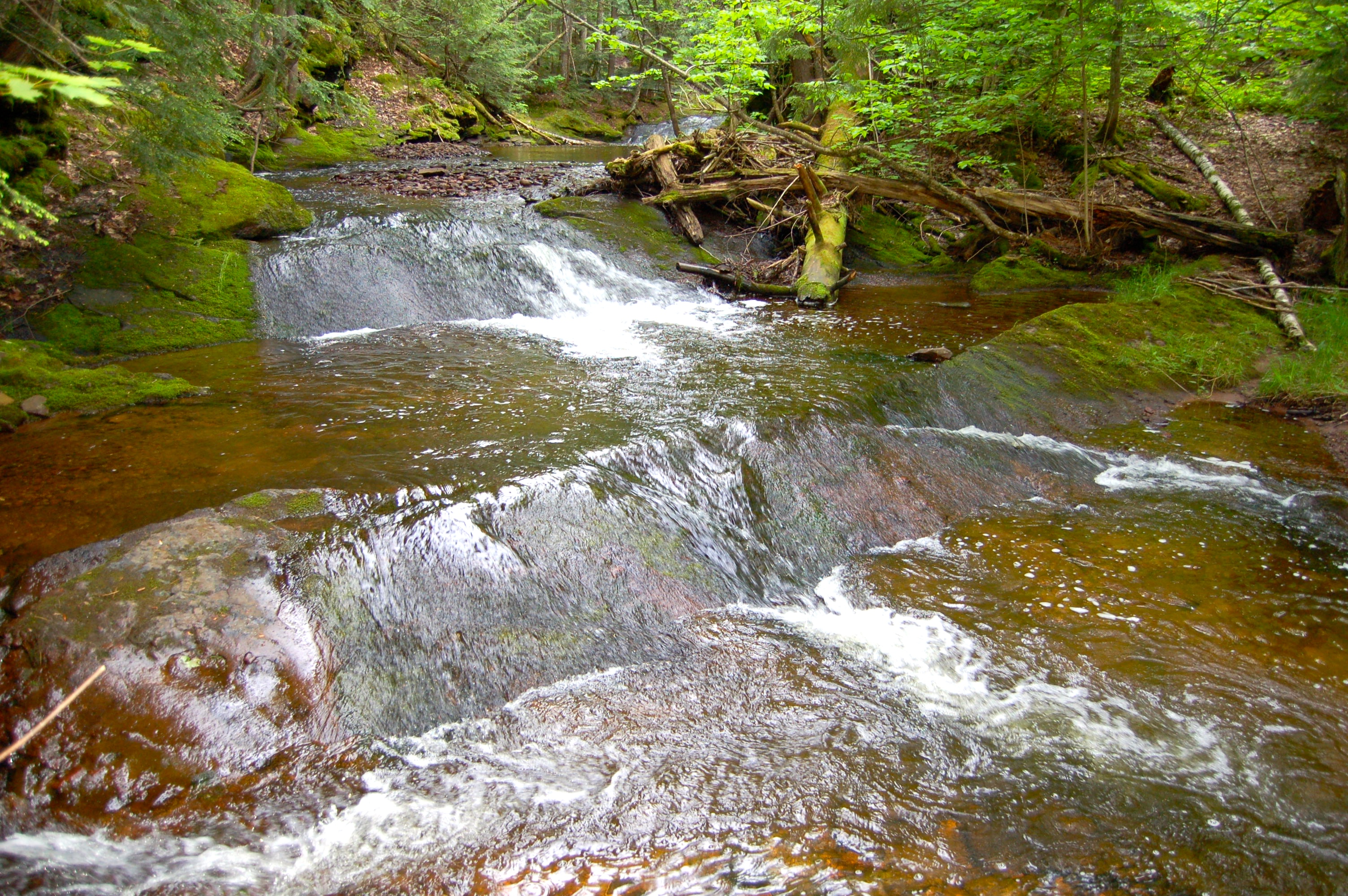 Union Mine Trail Small Waterfall Porcupine Mountains