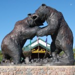 Michigan Roadside Attractions: World's Largest Bronze Wildlife Sculpture at Cabela's in Dundee