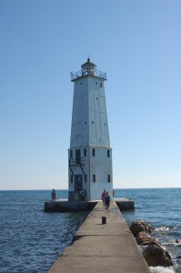 Frankfort Lighthouse Michigan Vertical