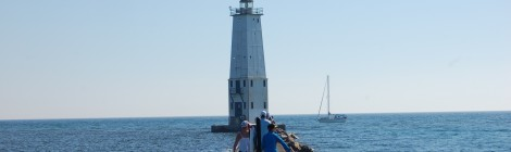 Frankfort North Breakwater Lighthouse - Lake Michigan