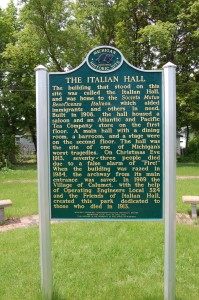 Italian Hall Michigan Marker 1