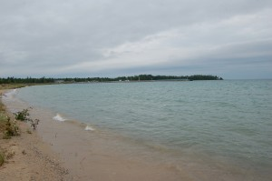 Presque Isle Harbor Michigan Range Light Beach