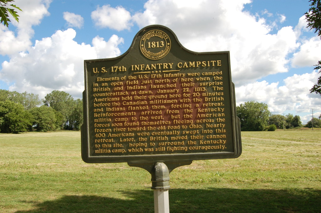 River Raisin National Battlefield Park 17th Infantry Campsite