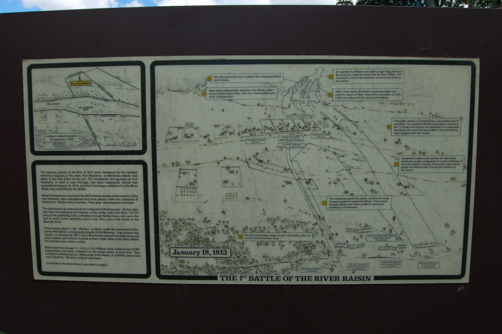 River Raisin National Battlefield Park Battle 1 Map