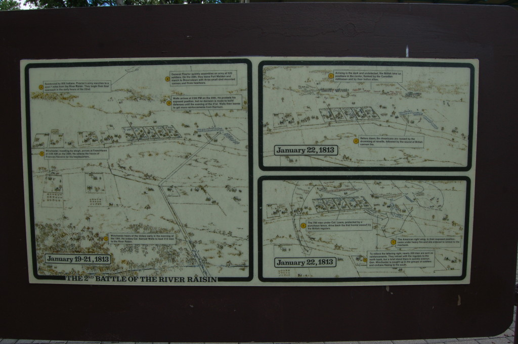 River Raisin National Battlefield Park Battle 2 Map