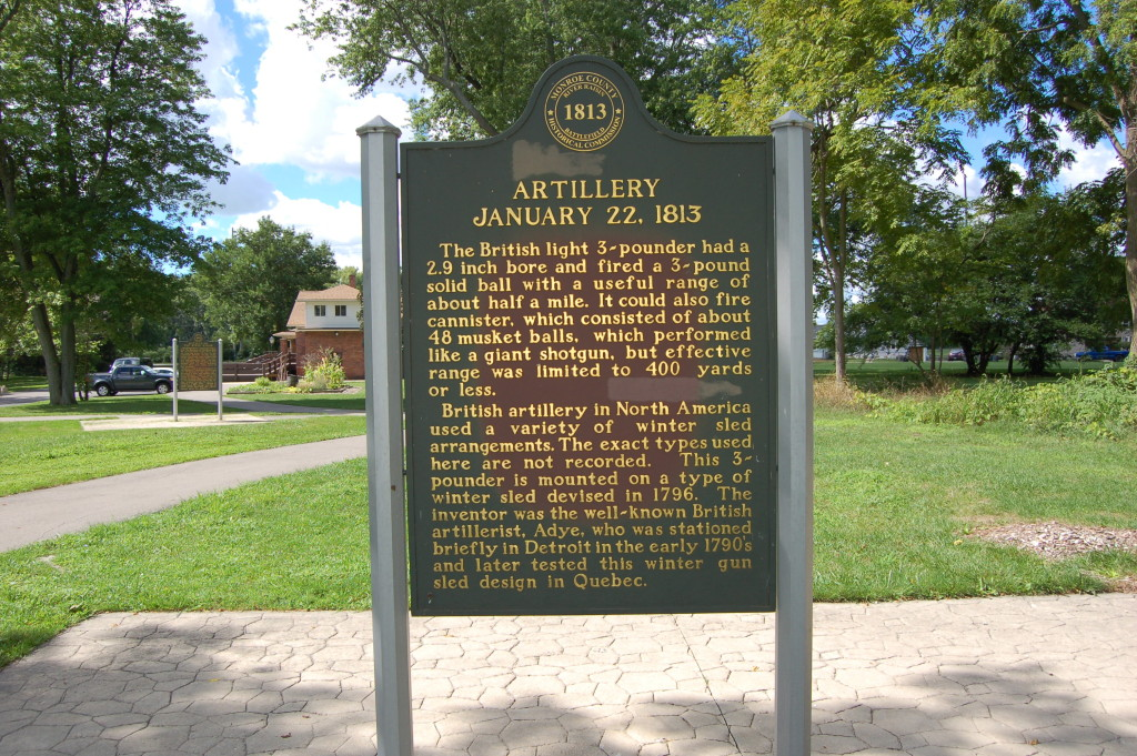 River Raisin National Battlefield Park British Artillery