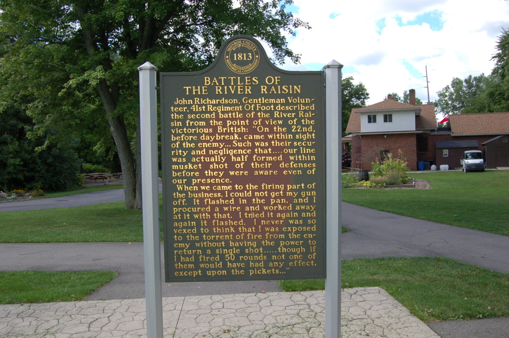 River Raisin National Battlefield Park Historical Marker 2