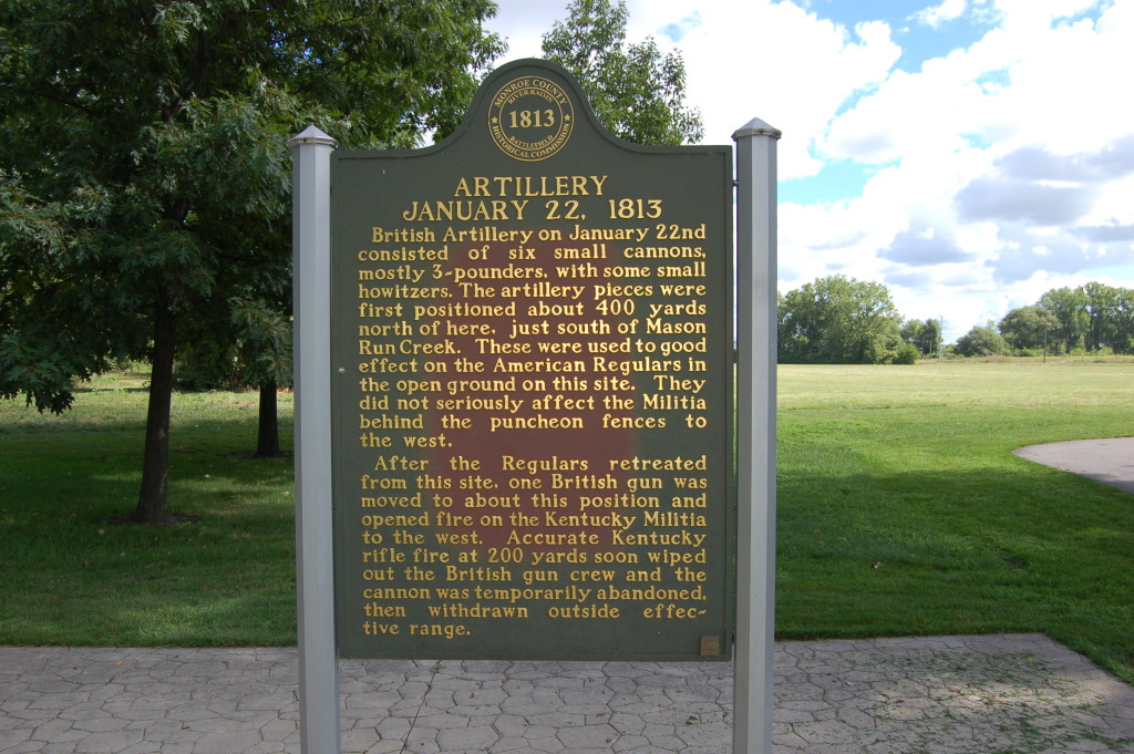 River Raisin National Battlefield Park MI History Marker
