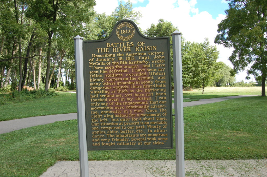 River Raisin National Battlefield Park Marker Side 2
