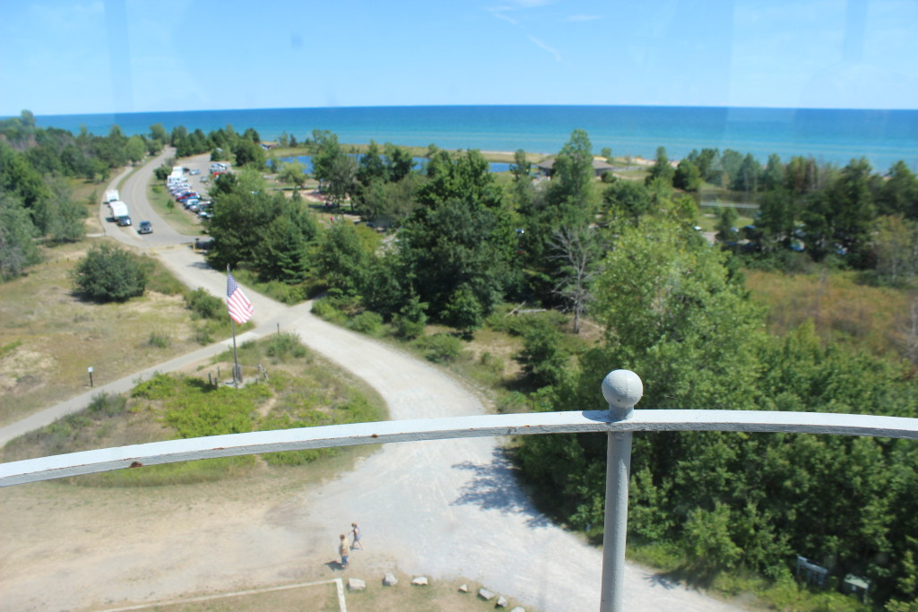 Tawas Point Lighthouse Tower View Michigan