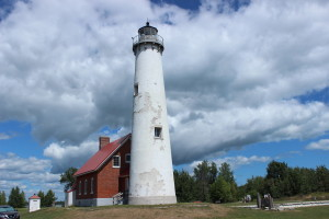 Tawas Point State Park Michigan Lighthouse Clouds