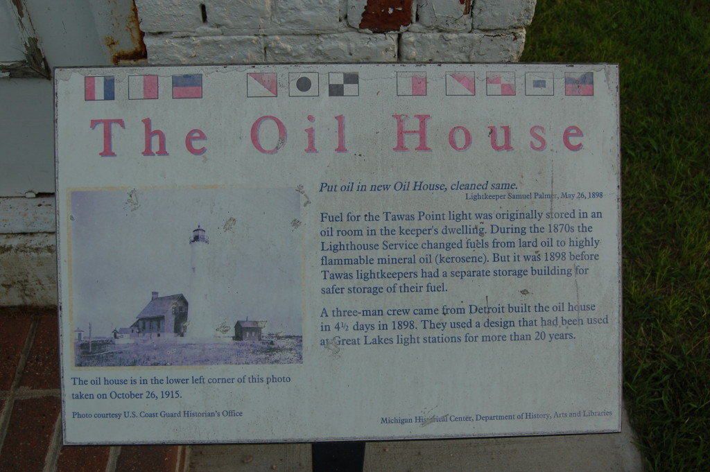 Tawas Point State Park Oil House Sign