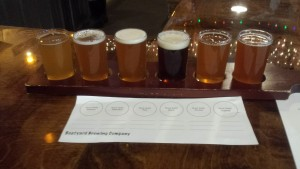 Boatyard Brewing Company Kalamazoo Flight