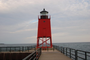 Charlevoix South Pier Light Close Up