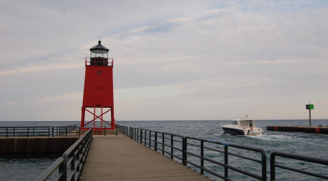 Charlevoix South Pier Light, Lake Michigan