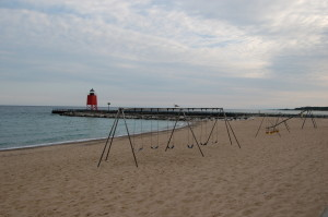 Charlevoix South Pier Light Michigan Beach Park