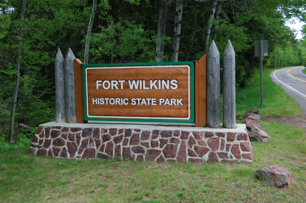 Fort Wilkins Historic State Park DNR Sign
