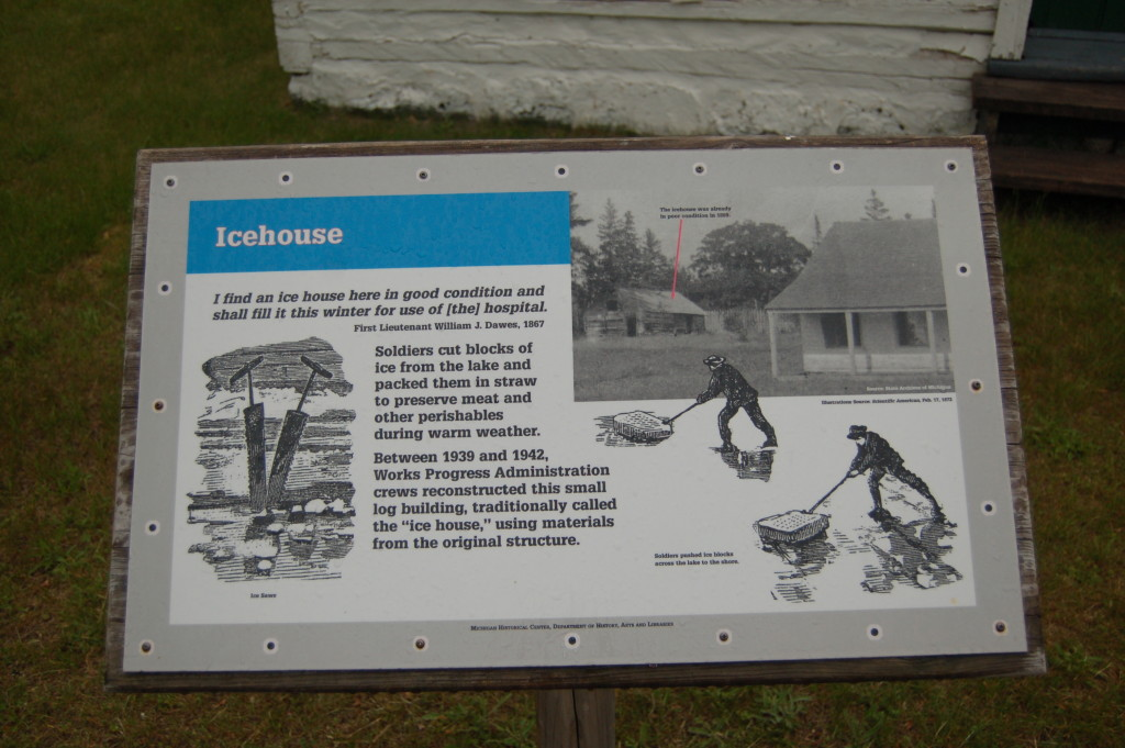 Fort Wilkins Historic State Park Icehouse Sign