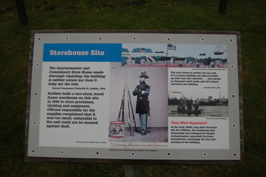 Fort Wilkins Historic State Park Storehouse Site