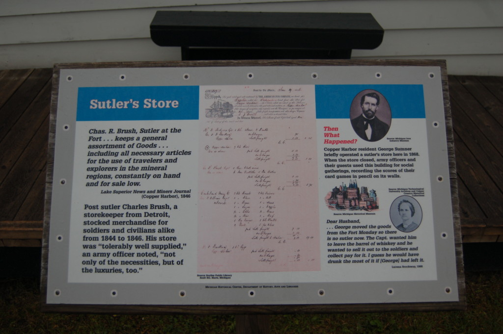 Fort Wilkins Historic State Park Sutlers Store Sign