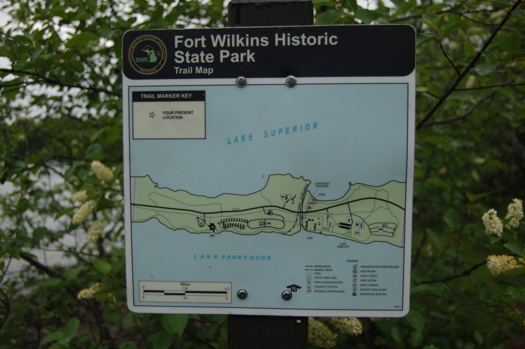 Fort Wilkins Historic State Park Trail Map