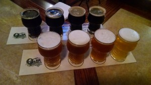 Olde Peninsula Brewpub Beer Flight
