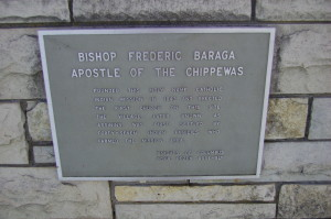 Assinins Baraga Memorial Plaque Michigan