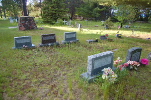 Assinins Cemetery Baraga Michigan Headstones
