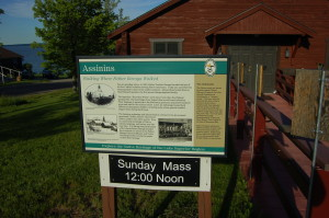 Assinins Historical Site Information Sign