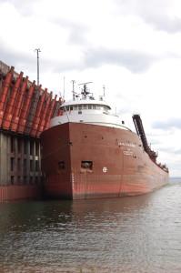 Freigher MArquette Michigan Ore Dock Presque Isle