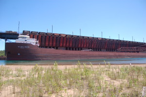 Hon James Oberstar Freighter MArquette Ore Docks
