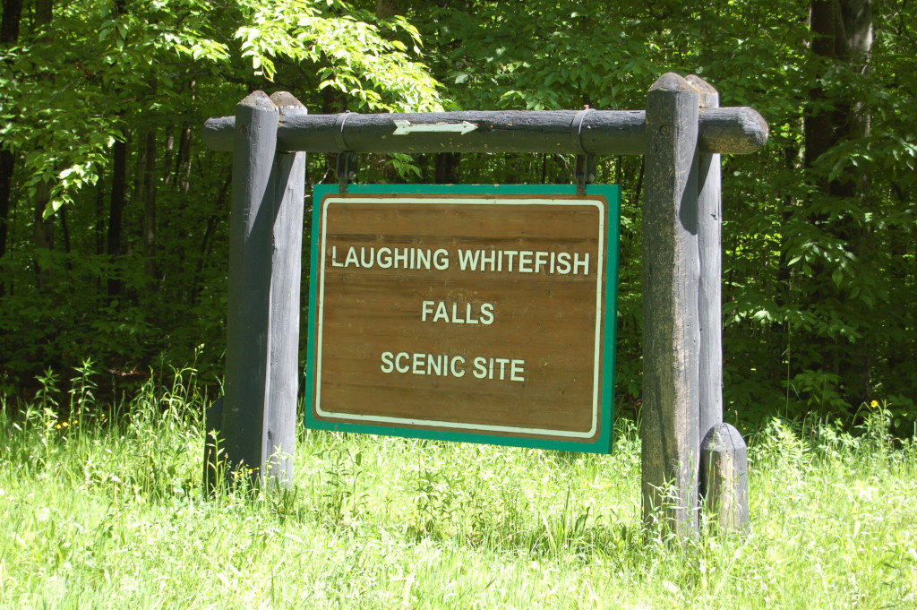 Laughing Whitefish Falls Scenic Site DNR Sign