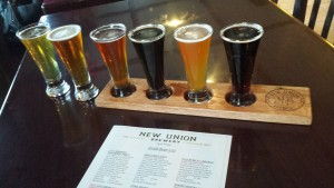New Union Lowell MI Brewery Flight