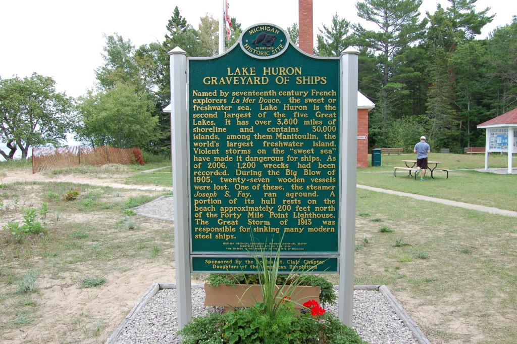 40 Mile Point Graveyard of Ships Marker