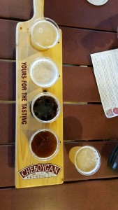 Cheboygan Brewing Company Flight Paddle