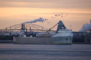 Cloverland Hydro Plant Boatwatching Sault Michigan