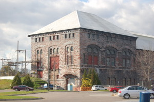 Cloverland Hydro Plant Side View Sault
