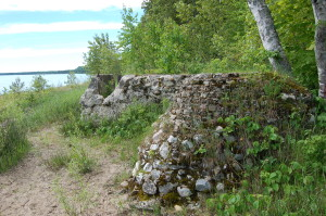 Cut River Bridge Old Ruins Lake Shoreline