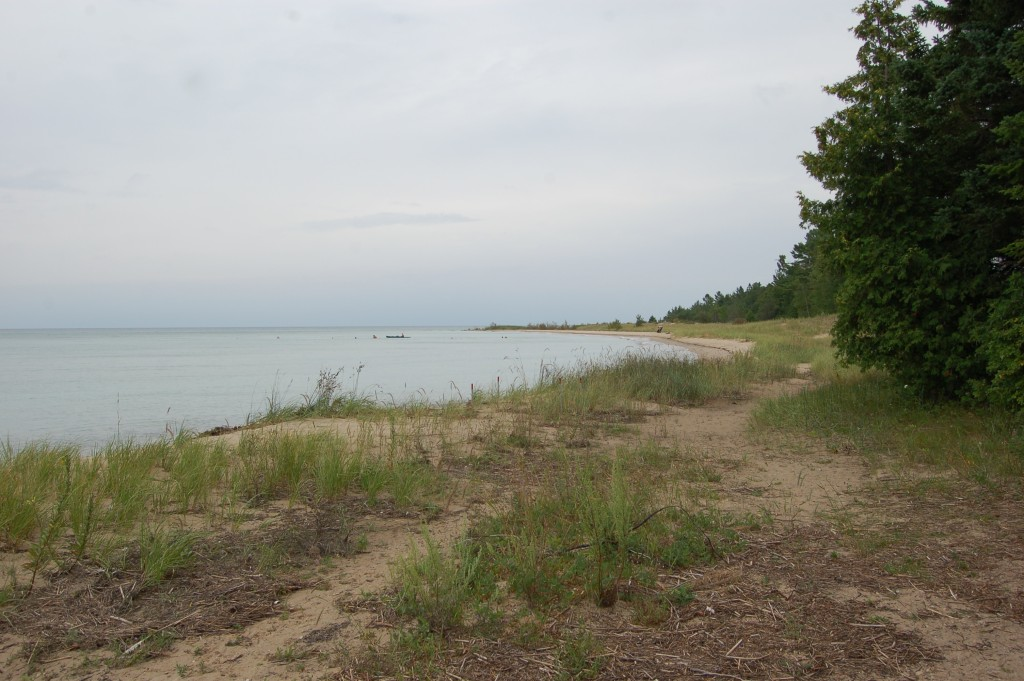 Forty Mile Point Lighthouse Lake Huron Beach