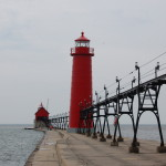 Grand Haven Pier Lights, Lake Michigan