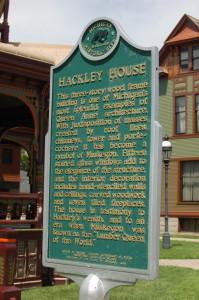 Hackley House History Marker Michigan