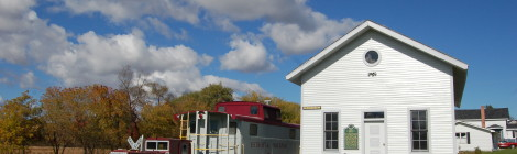 Michigan Roadside Attractions: Lincoln Train Depot, Harrisville