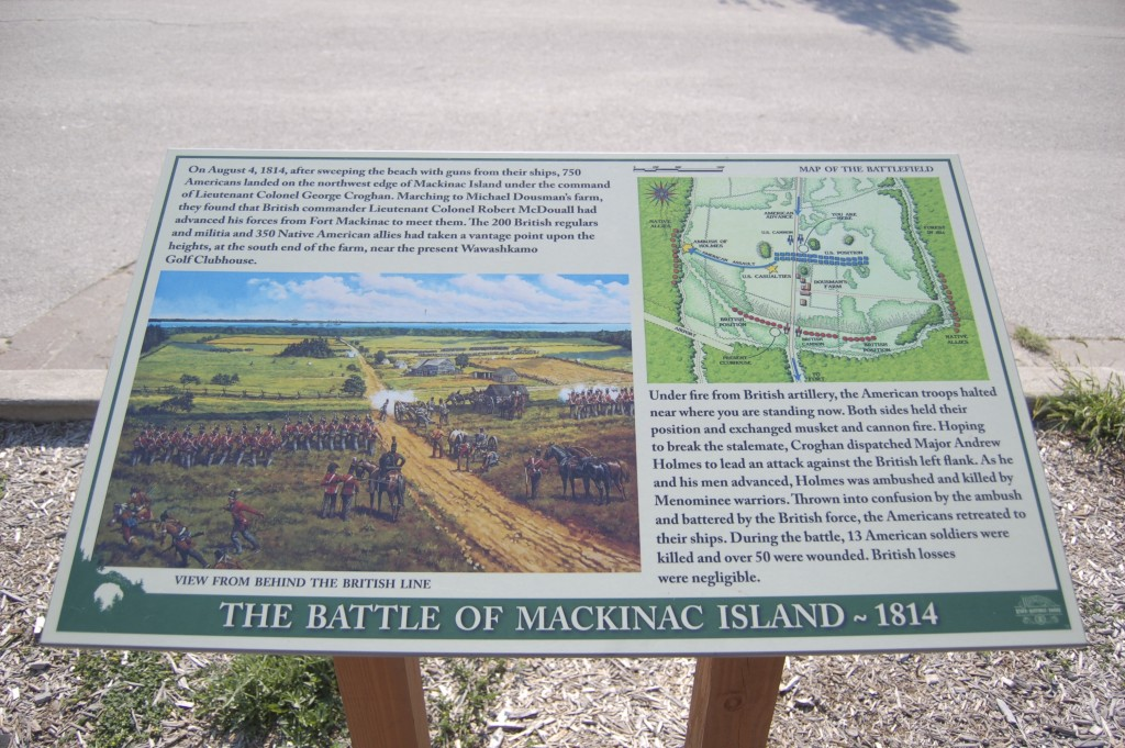 Mackinac Island Battlefield Marker Michigan