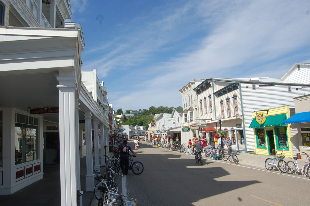 Mackinac Island Downtown Michigan