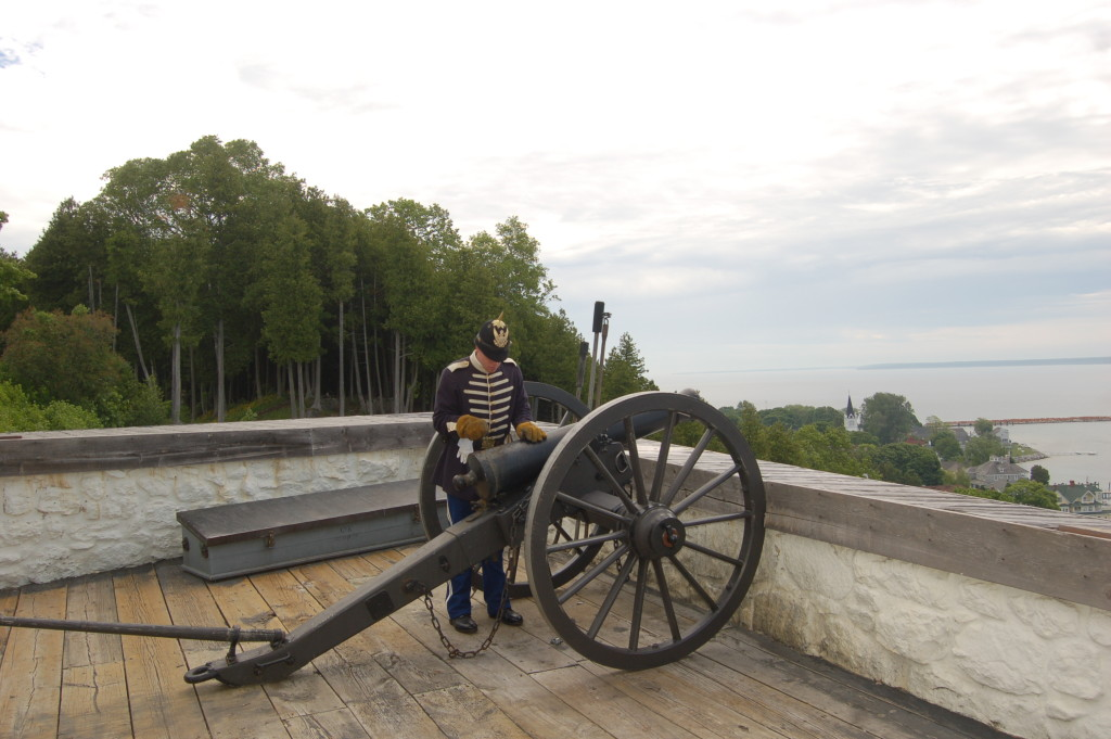 Mackinac Island Fort Cannon Demonstration